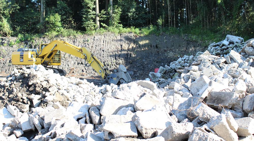 都城市の高崎砂利産業廃棄物中間処理施設再生砂利プラント